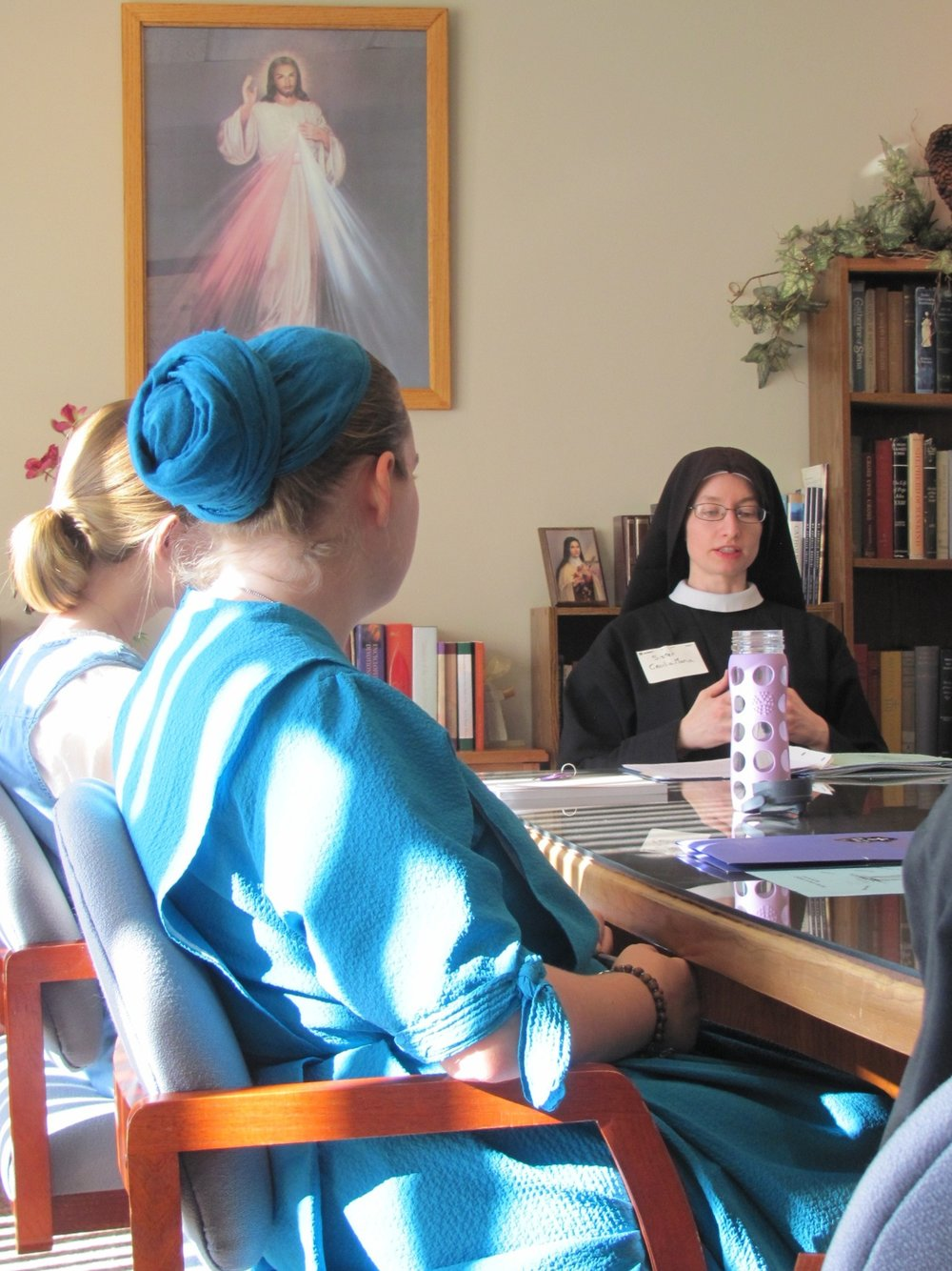 Sr. Cecilia Maria gives a talk on Our Lady of Sorrows and Passionist Life