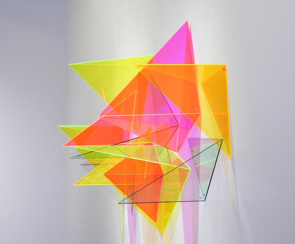 installation for 2017 exhibition  Translucent,  McKenzie Fine Art, New York, NY