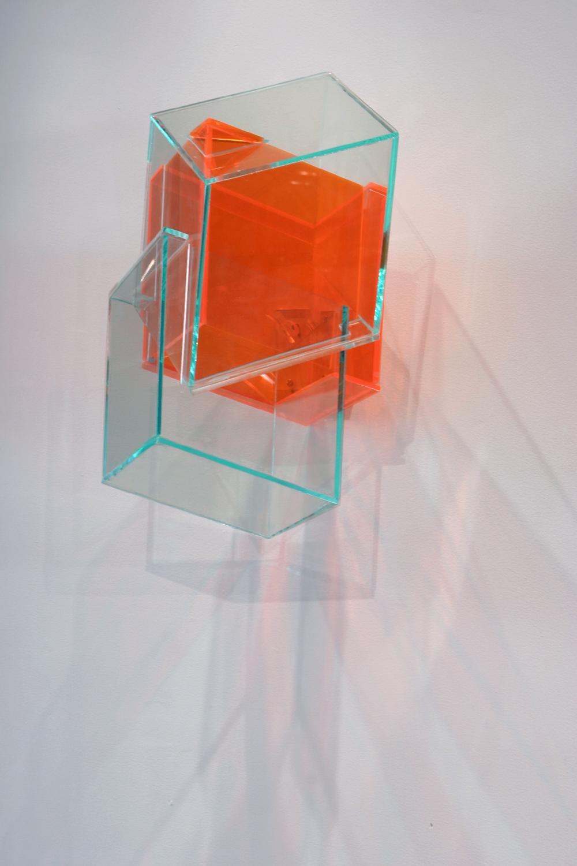Internal Logic  (orange) 2005 Plexiglas 17Hx9Wx9D inches / 43x23x23 cm