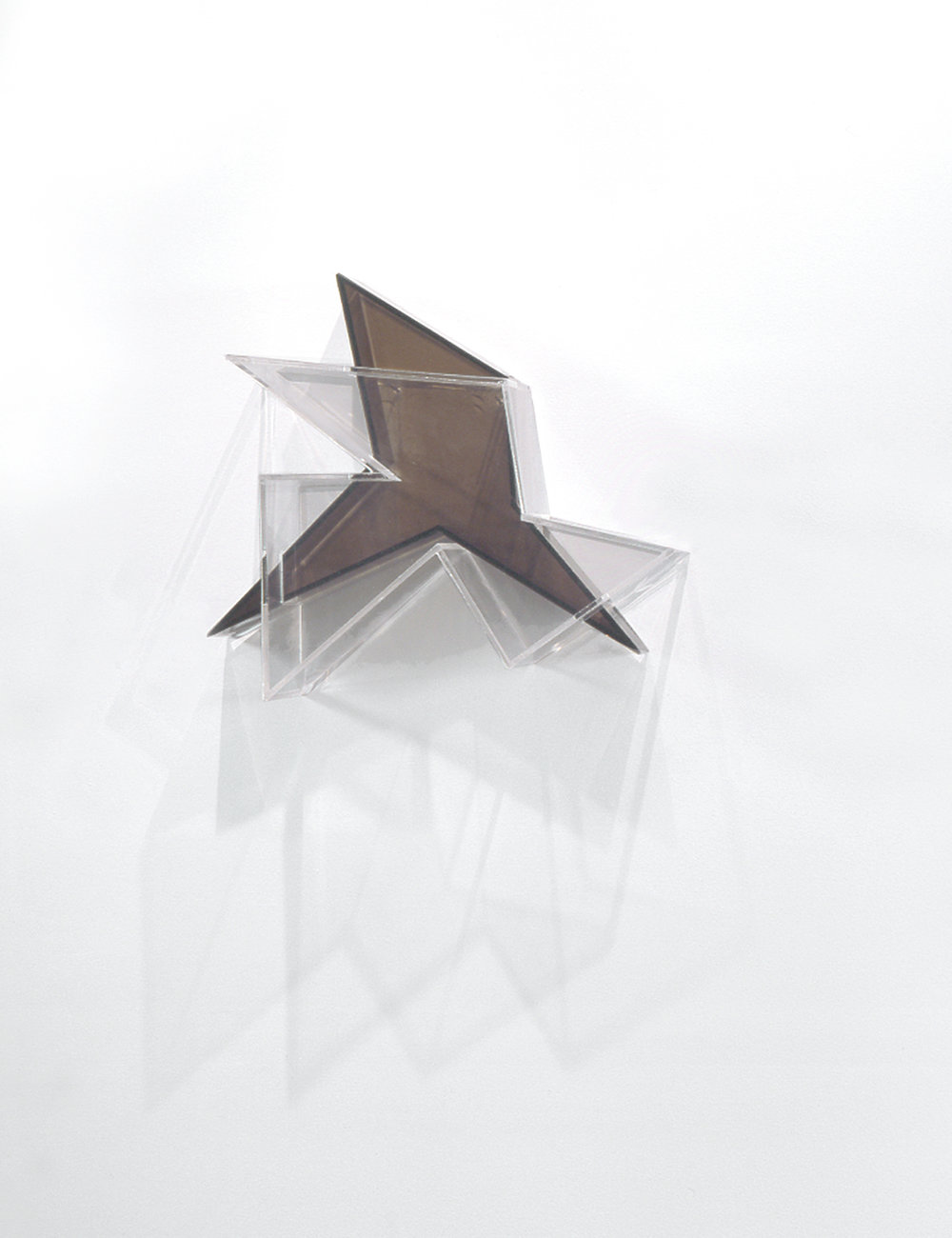 Settled Edge  (grey) 2004 Plexiglas 19Hx18Wx4.5D inches / 48x46x11 cm