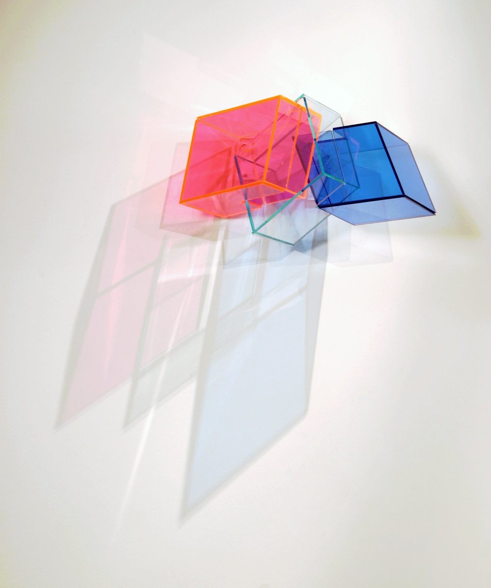 Short Answers  (pink) 2005 Plexiglas 17Wx9Hx9D inches / 43x23x23 cm