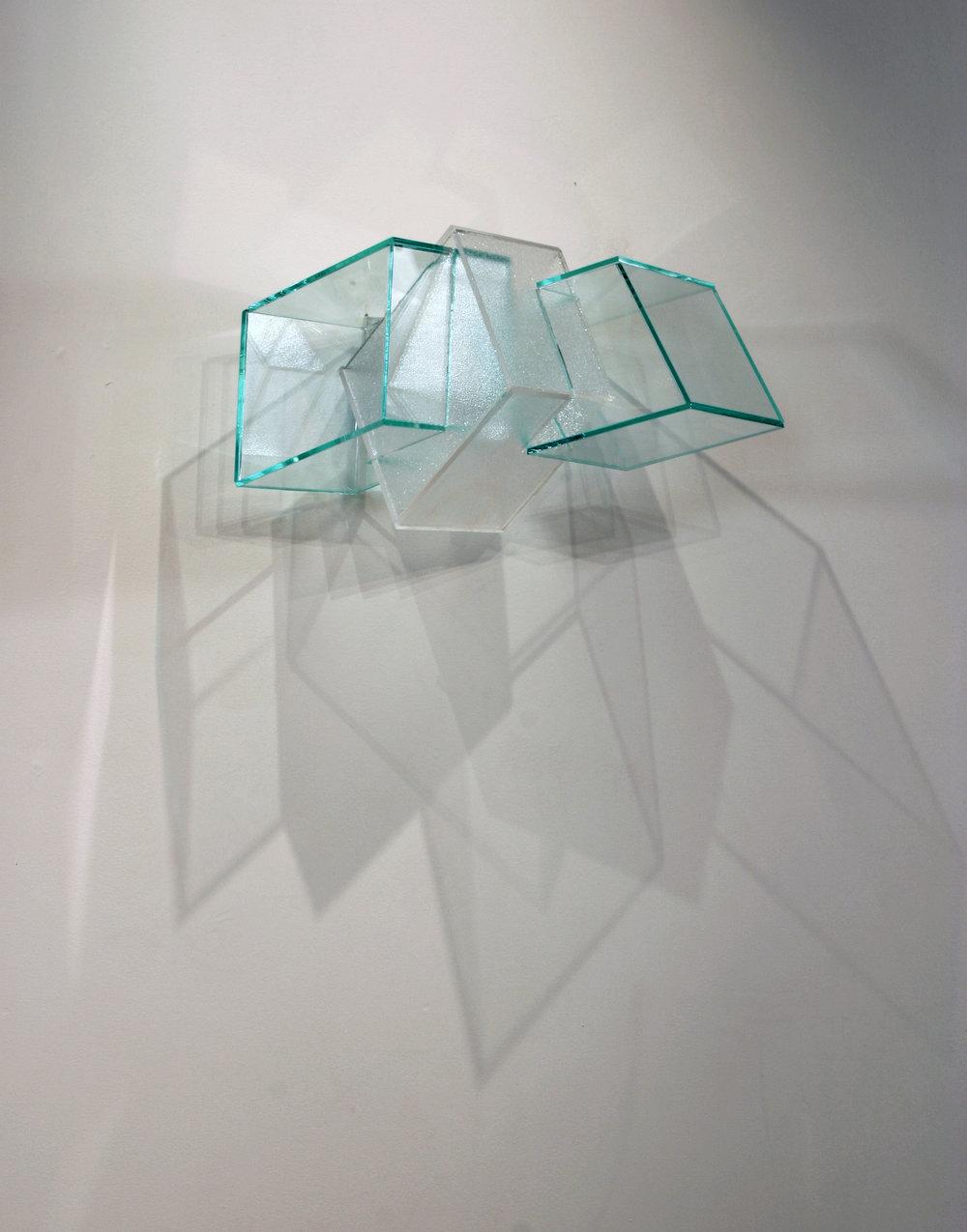 Short Answers  (green) 2005 Plexiglas 17Wx9Hx9D inches / 43x23x23 cm