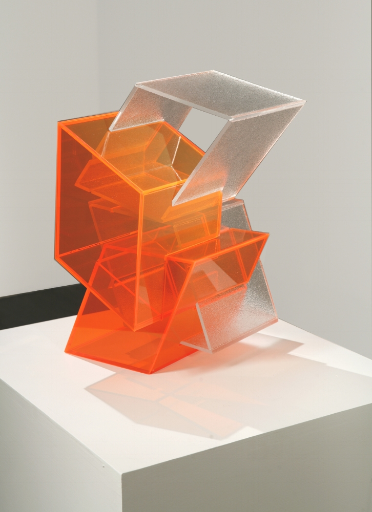 Mingled Stutter  (orange) 2007 Plexiglas 17.5Hx12Wx13D inches / 44x31x33 cm