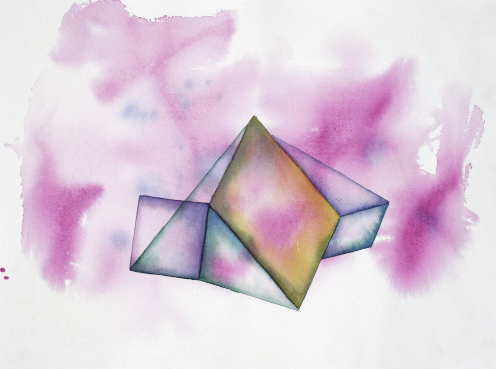 Folded 7  2015 Watercolor on 100% rag paper 10x14 inches / 25x36 cm