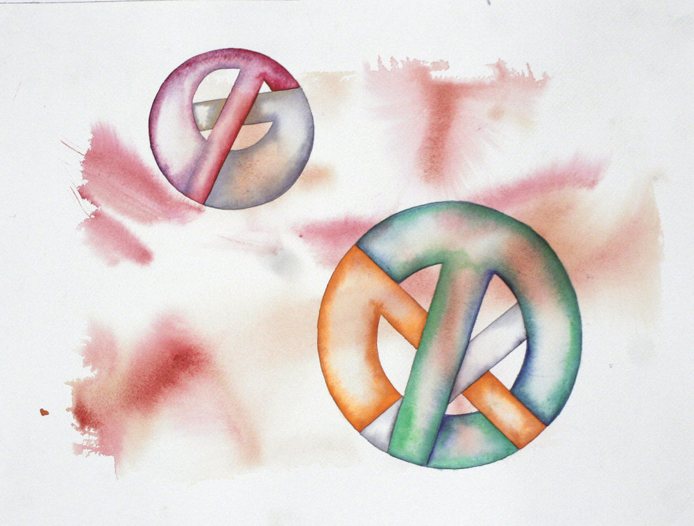 Crux  2015  Watercolor on 100% rag paper 11x15 inches / 28x38 cm