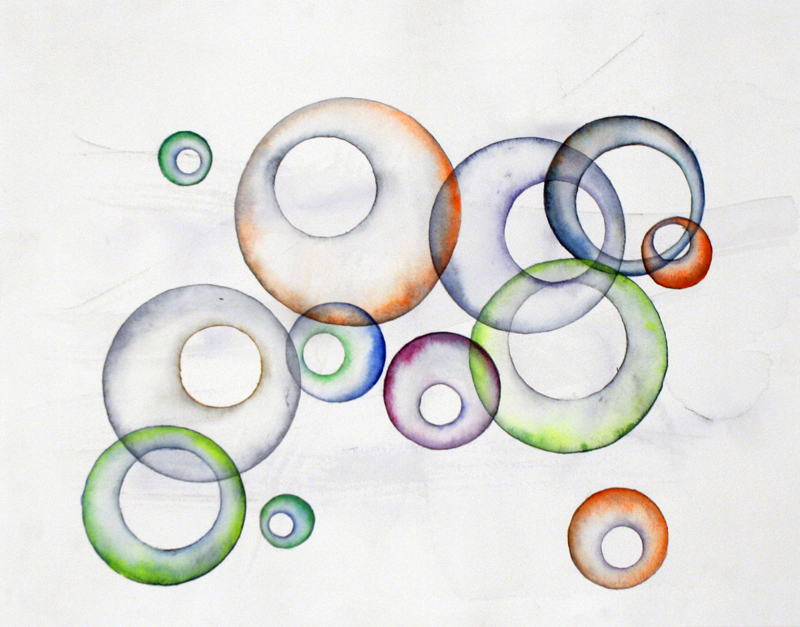 Bubble Chamber  2015 Watercolor on 100% rag paper 11x15 inches / 28x38 cm