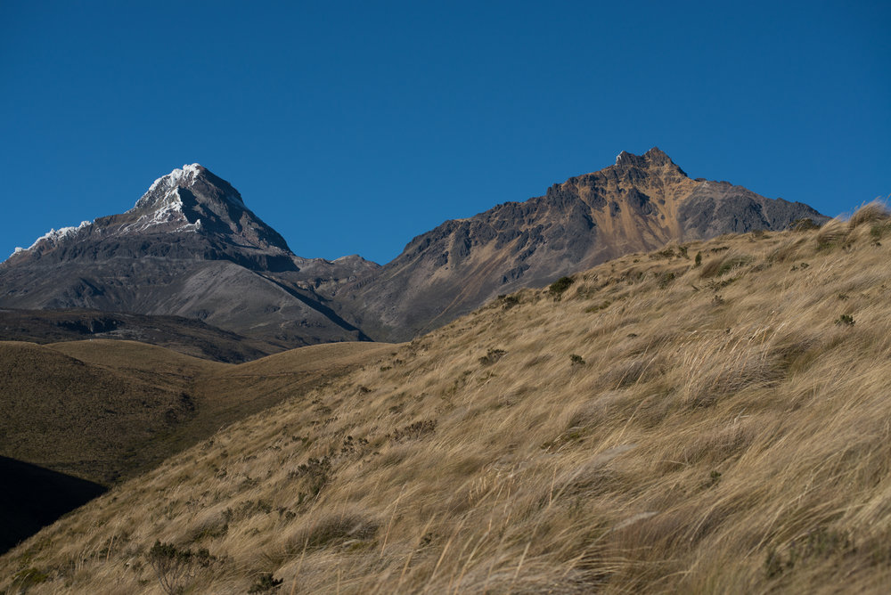 The twins of the ecuadorian Andes, being the south the most challenging one