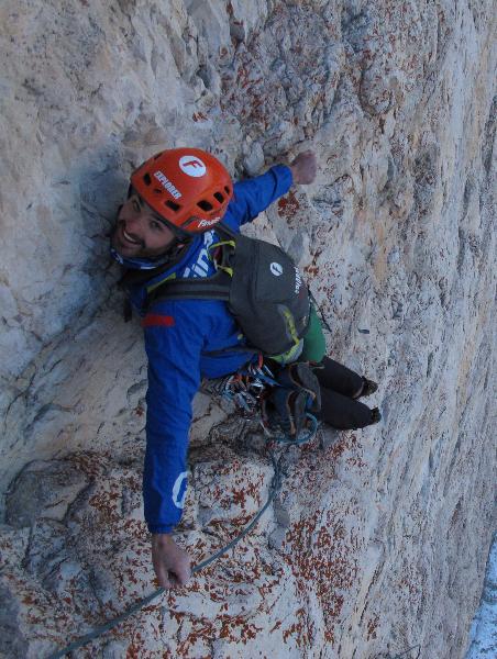 Climbing the North Face of Cima Grande. Italia.