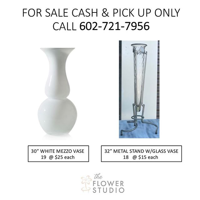 Tall Vases For Sale [Boxes included] #forsale #flowerstudioaz