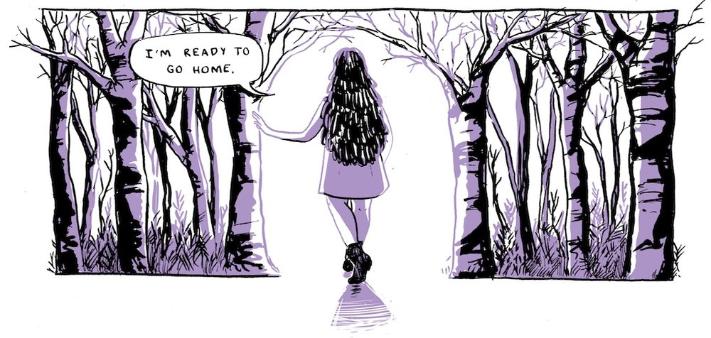 panel from  Changeling , by Sarah Hickey