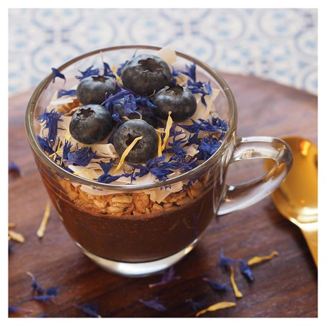 In time for #veganuary is our super delicious chocolate chia pots. Recipe now on the site. Packed with protein, it makes a wonderful breakfast or a late afternoon snack. #yummy