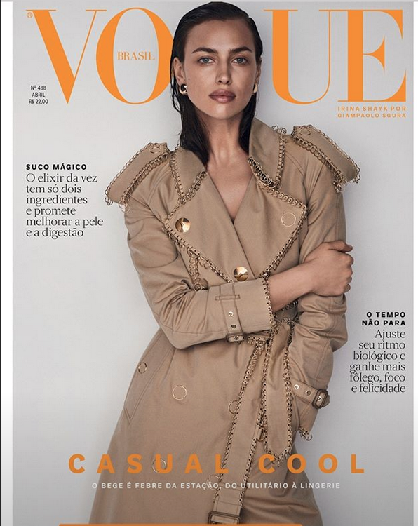 Irina Shayk - March 2019Gisela Gueiros' interview with cover-girl Irina Shayk for Vogue Brasil. Article in Portuguese below.