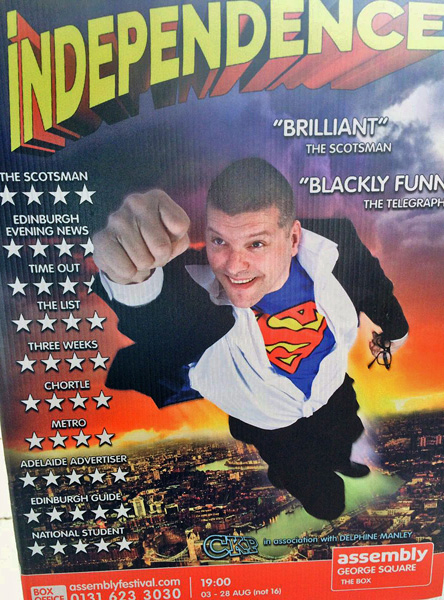 Independence, John Clark, Edinburgh Fringe Festival, review, Scottish Bitches blog