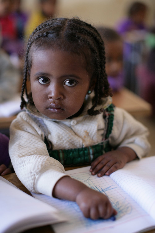 CHILDREN LEARNING IN CLASS- KECHENE MEDHANEALEM SCHOOL (131).JPG