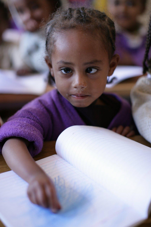 CHILDREN LEARNING IN CLASS- KECHENE MEDHANEALEM SCHOOL (132).JPG