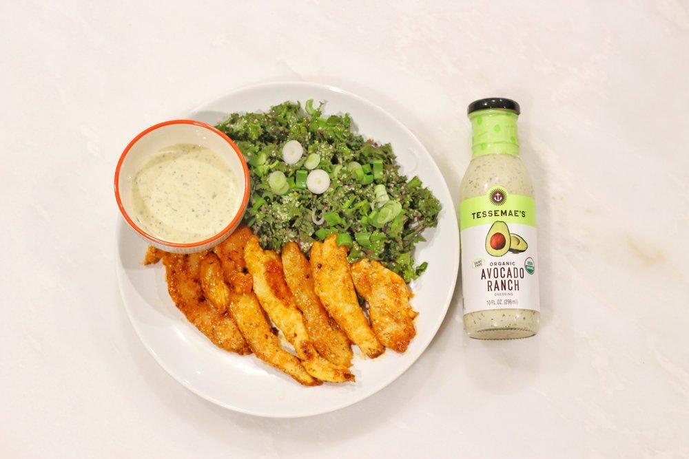 7583928240_IMG_0045.jpg-whole-30-dinner-ideas-clean-eating-kale-salad-buffalo-tenders