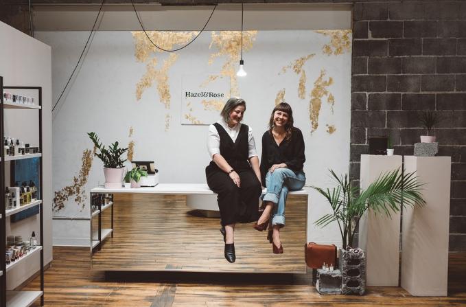 Emma Olson and Bobbi Barron in their shop.