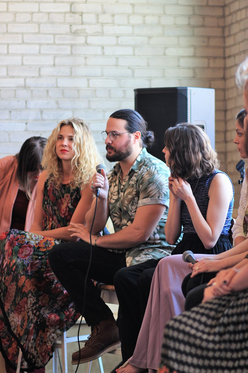During the panel discussion
