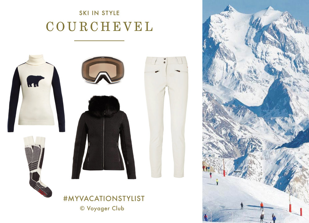 #MyVacationStylist- Ski - Courchevel- Vacation Wardrobe