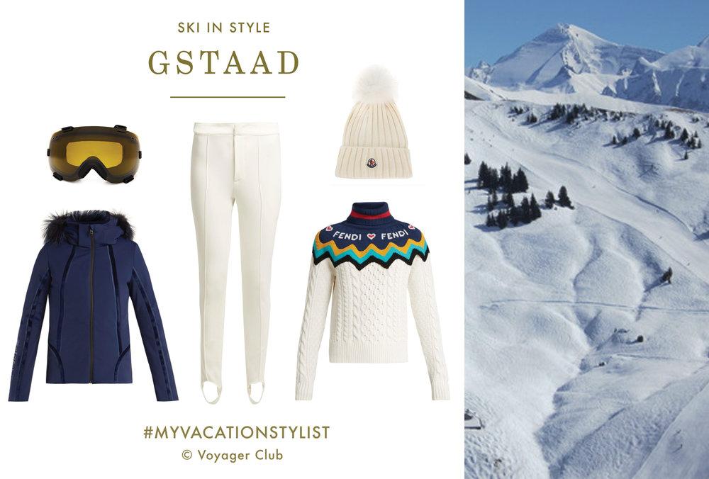 #MyVacationStylist- Ski - Gstaad- Vacation Wardrobe