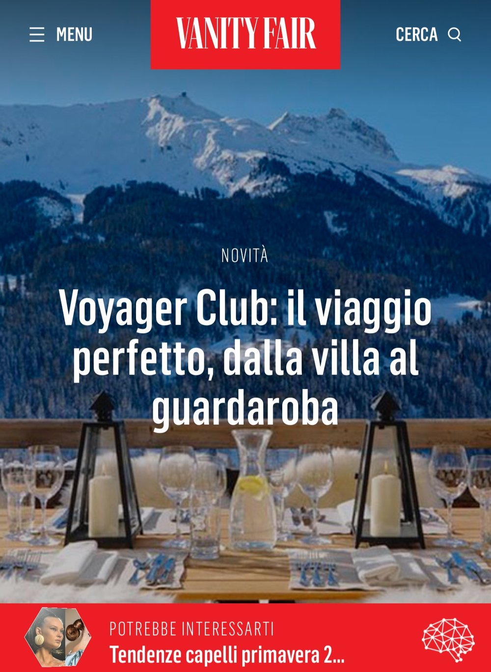 Vanity Fair Italia- Press- Voyager Club