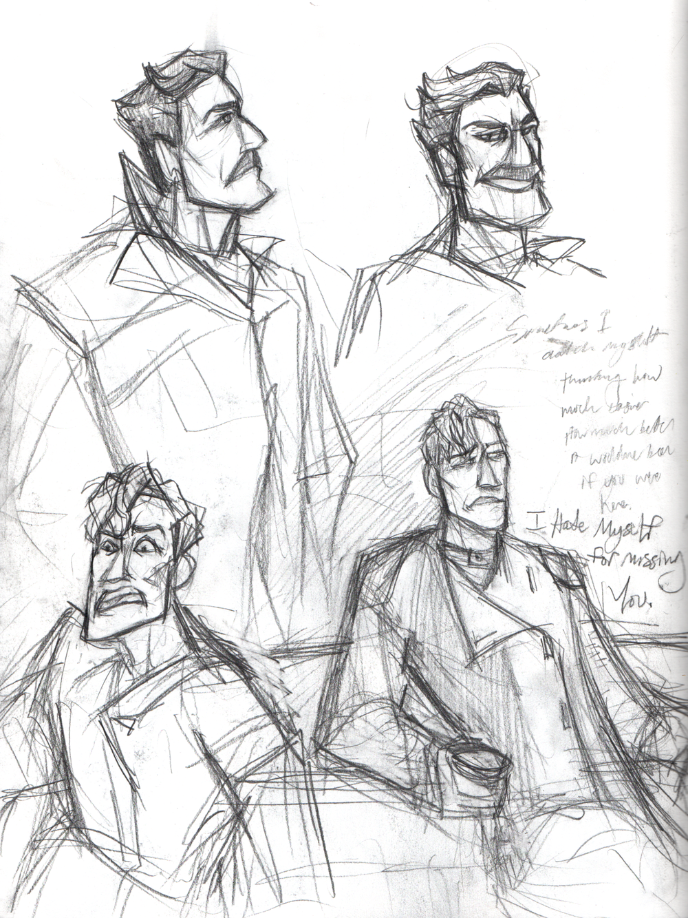 Taragon and Tetch sketchbook page