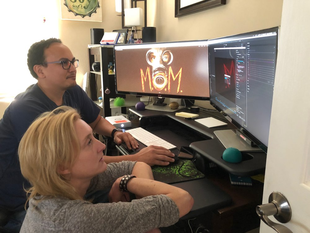 Editing with Efren Pardilla on the much anticipated movie trailer dun dun dun!