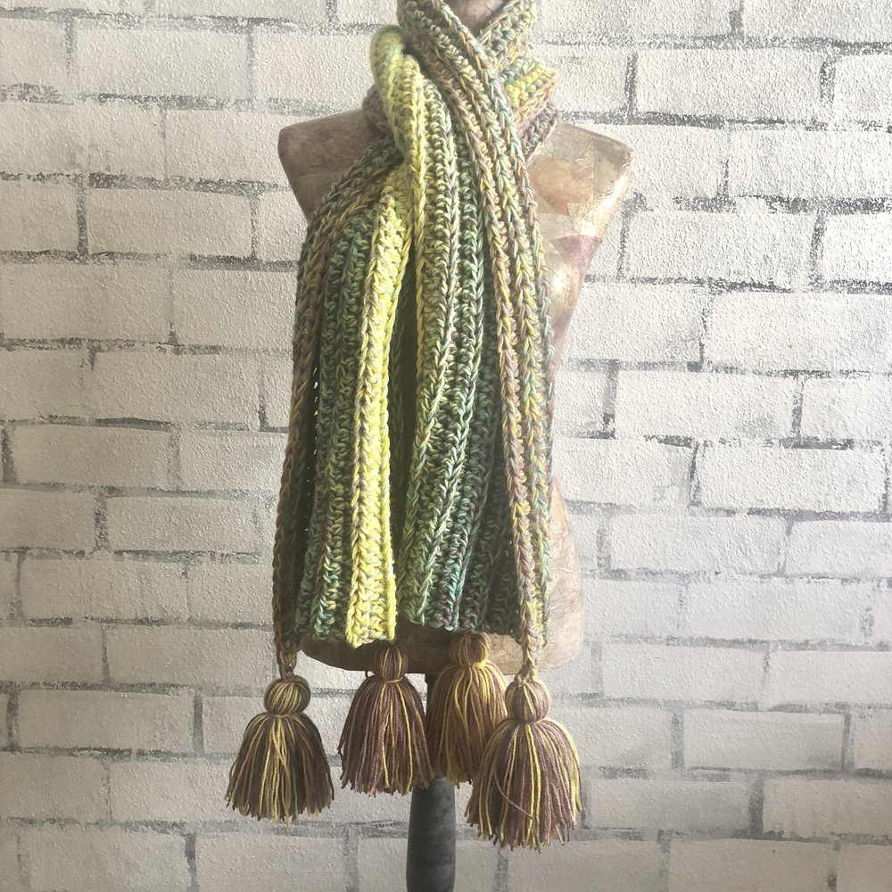 Valley of Flowers Wrap Scarf - Crochet Pattern - The Roving Nomad