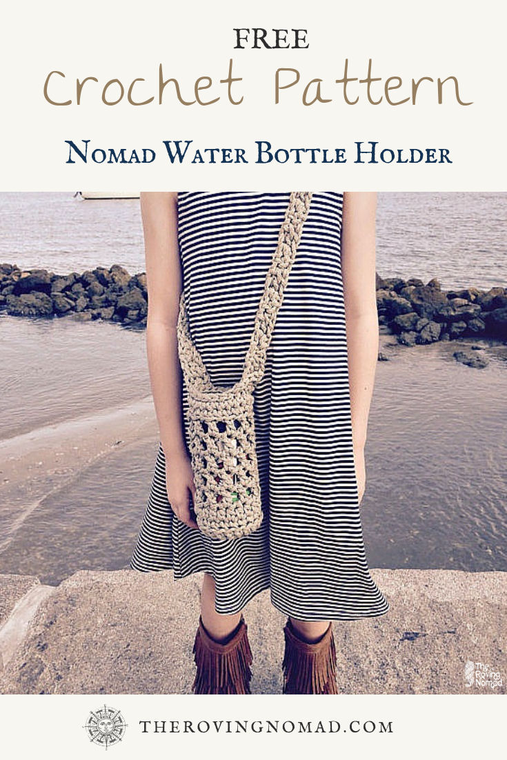 Nomad Water Bottle Holder - Crochet Pattern - TheRovingNomad.com.png