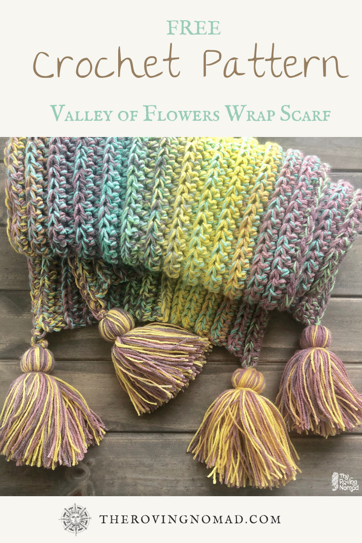Valley of Flowers Wrap Scarf - Crochet Pattern - TheRovingNomad.com.png