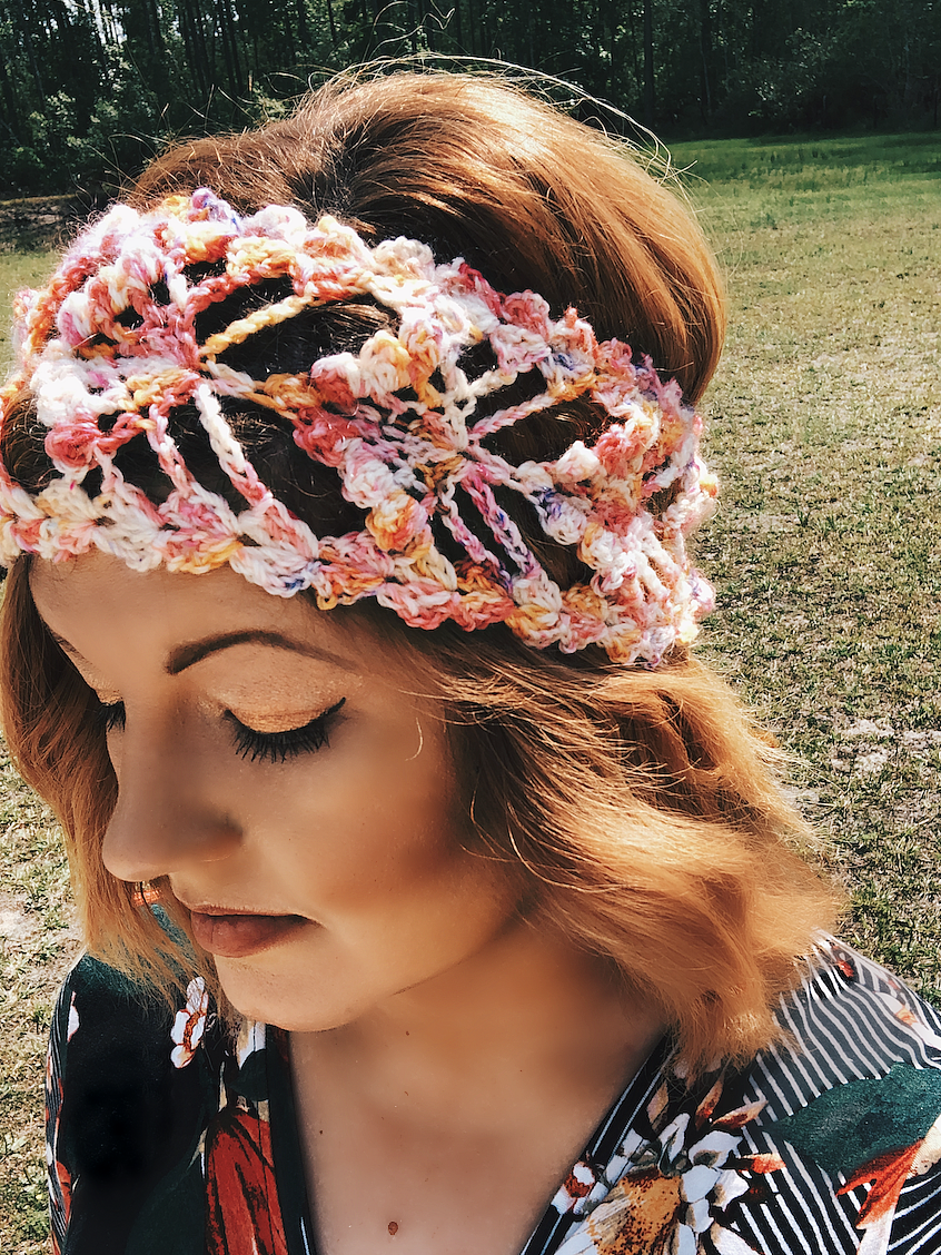 Wildflower Headband Crochet Pattern