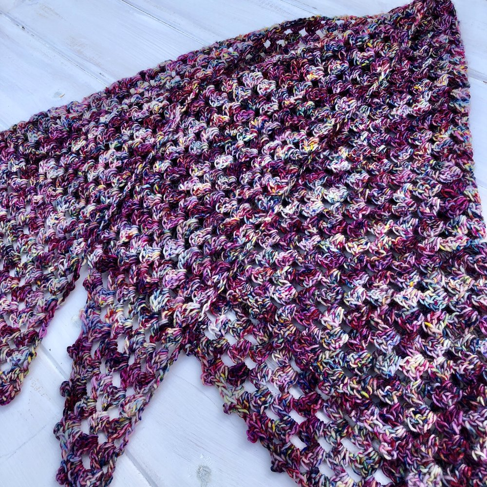 Rainbow Mountain Shawl - Crochet Pattern - The Roving Nomad