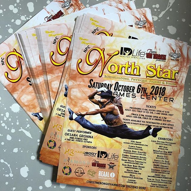 Posters are in for the 2018 #npcNorthStar! We're doing things a bit differently this time, instead of sending one to every gym on our mailing list, we're only going to be sending them to those who request a poster to put up in your gym! So if you want one for the gym or gyms that your train in, send us a DM or an email to shandi@teamontrackproductions.com!
