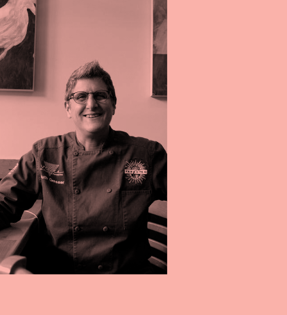 Ruth Gresser - Owner + Chef, Pizzeria ParadisoOwner and chef Ruth Gresser learned her craft at her mother's side, cooking for her large family and her mother's catering company. Ruth cooked her way through college before entering the professional food scene in San Francisco at the early stages of the modern American food movement. In 1987, after graduating summa cum laude from Madeleine Kamman's Classical and Modern French Cooking School, and cooking professionally in French, American, and Italian restaurants across the country, she moved to Washington, D.C.In 1991, she turned her attention to pizza, opening Pizzeria Paradiso to critical acclaim. Now considered the matriarch of pizza in the District, Ruth has been instrumental in the opening of six popular Washington restaurants. She is the author of Kitchen Workshop – Pizza: Hands-On Cooking Lessons for Making Amazing Pizza at Home, as well as starring in a How to Make Pizza series of videos.Ruth is the President of the Board of Directors of Women Chefs and Restaurateurs, the foremost organization for women in food founded by industry leaders such as Lydia Bastianich, Mary Sue Milliken, Barbara Lazaroff and Barbara Tropp. Ruth is also a member of Les Dames d'Escoffier, has been profiled in The Washington Post Magazine and The Washington Business Journal, and has appeared on numerous local TV and radio stations, and industry panels.