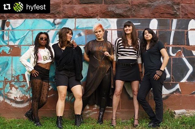 "💥HyFest. Today. 4-10pm.💥 #Repost @hyfest ・・・ We are *thrilled* to have @theosyx play HyFest #2 on Oct. 13 at @polkadotparkpopup. This all-female powerhouse, which takes its name from the legendary alpha female wolf ""The 06,"" is fairly new to the DC scene as a group, but its likely you've heard some of its members play before. The Osyx harnesses feminine energy to create something wild, powerful and critical to today's music scene. A-WOOOOOOO! 📷 by @roxplosion  #hyfest #hyattsville #hycastle #polkadotpark #sohy #theosyx #femaleswhorock #jointhepack #livemusic #dmvmusic #supportlocalmusic #hyattsvillemusicscene #smashthepatriarchy"