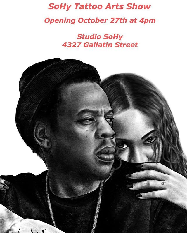 This Saturday. The SoHy Tattoo Arts Show @studio_sohy. 4pm. Artwork from local studios @satchmoe_art + @whistlestopstudiohyattsville + artists @vkpaints @artizmylov @mcr_photo + @dinosaursdied @brianonymous  #studiosohy #satchmoeart #whistlestopstudio #tattooart #sohy #localart #supportlocal #sohytattooartsshow