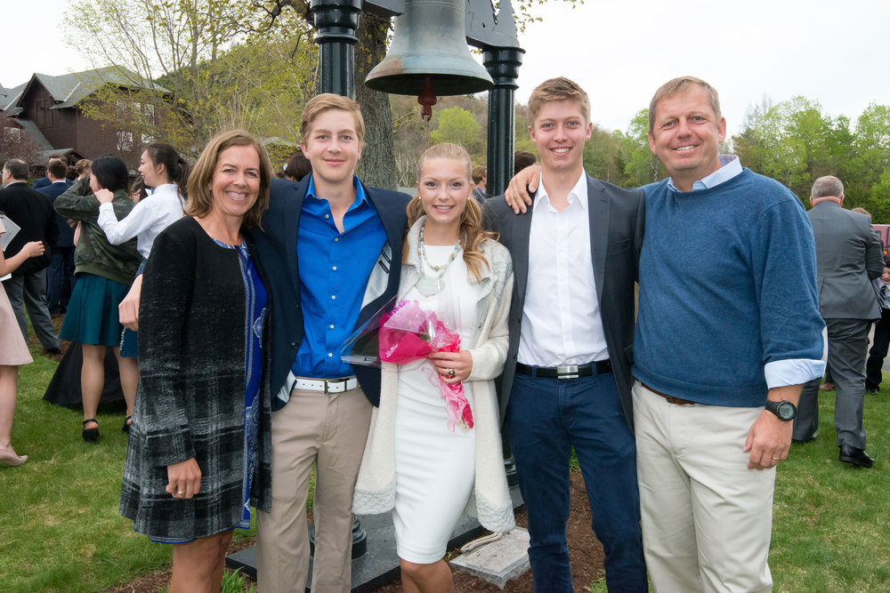 Pictured (left to right): Katrina (Lussi) `87, Lars `21, Kylie `18, Bjorn , and Rich Kroes