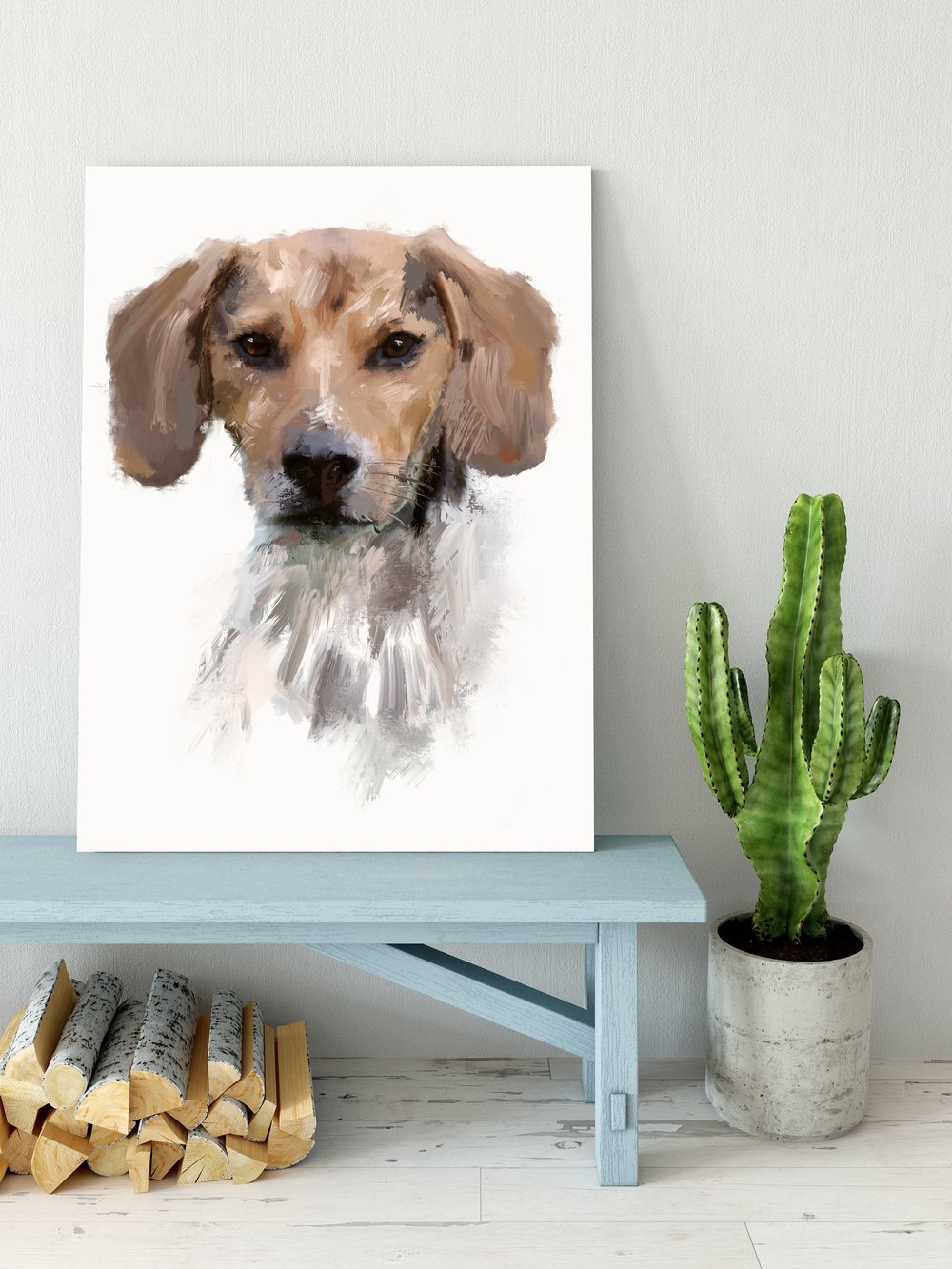 pet portraits-whisker and brush-canvas example