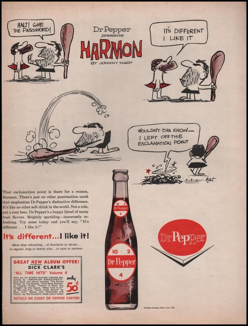 A Johnny Hart ad for Dr Pepper.