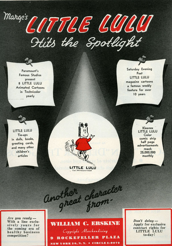 Ad placed by Erskine in Playthings magazine in September 1944.