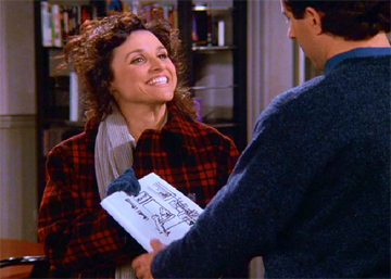 "From ""The Cartoon"", Kaplan's  Seinfeld  episode about Elaine's attempt to draw a  New Yorker  cartoon…"