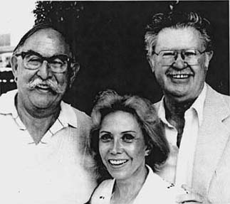 Jay Ward, June Foray and BIll Scott (L-R)