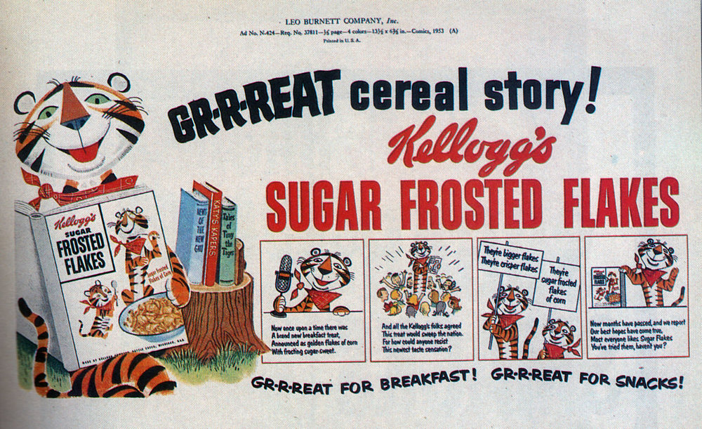 Thurl Early Frosted Flakes ad