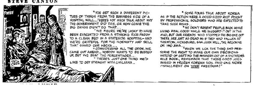 Steve Canyon, Dec. 25, 1950