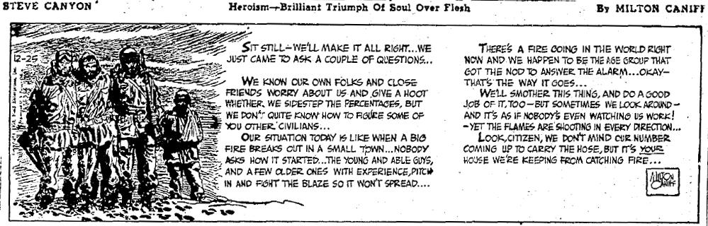Steve Canyon, Dec. 25, 1951