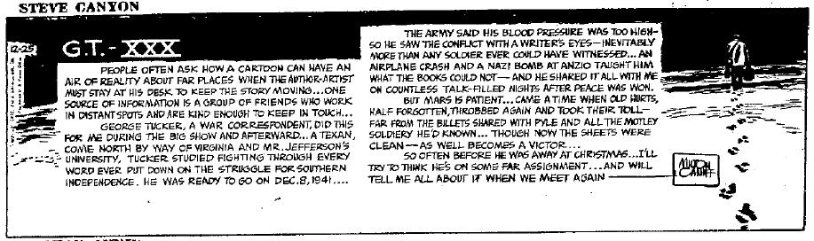 Steve Canyon, Dec. 25, 1952