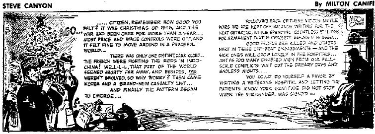 Steve Canyon, Dec. 25, 1956