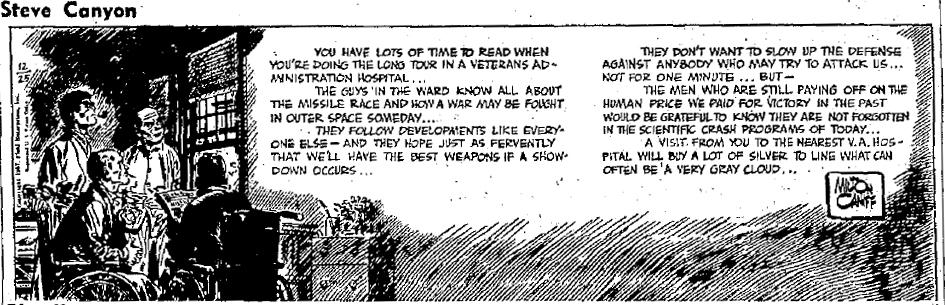Steve Canyon, Dec. 25, 1957