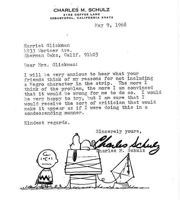 A subsequent Schulz letter to Glickman