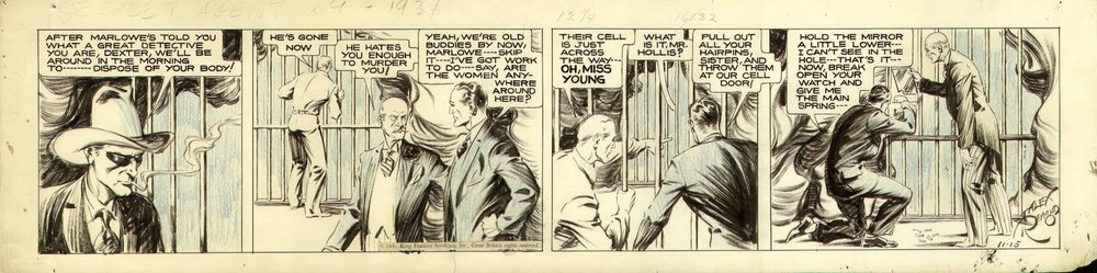 Alex Raymond's Secret Agent X-9 (click to enlarge)